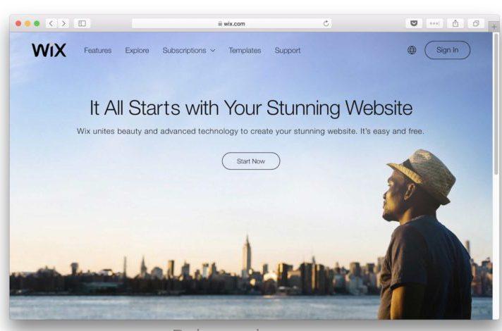 wix سایت ساز رایگان