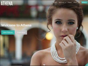 قالب شرکتی و فروشگاهی تمام صفحه ATHENA