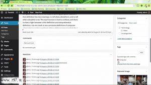 wordpress revision