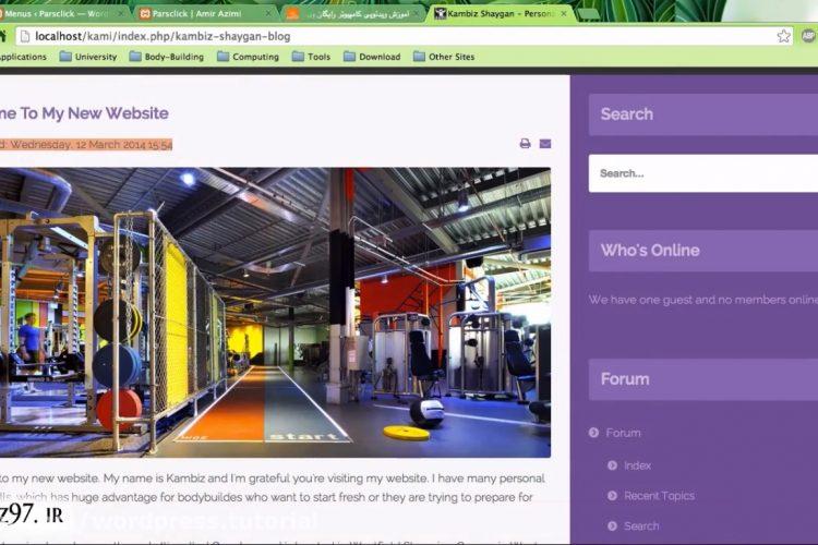 طراحی صفحه اصلی در وردپرس
