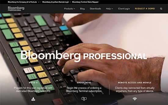 سایت شرکت bloomberg pro