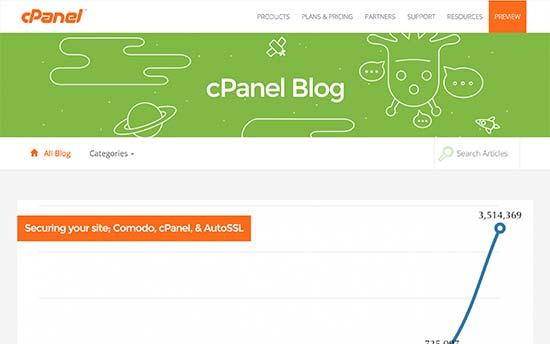 وبلاگ شرکت cpanel