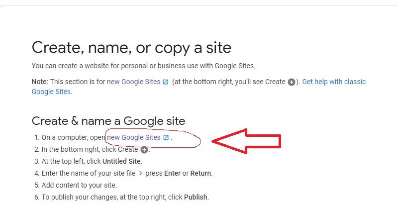 ساخت سایت در گوگل