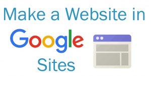 ساخت وب سایت در گوگل