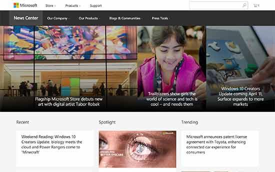 شرکت microsoft news