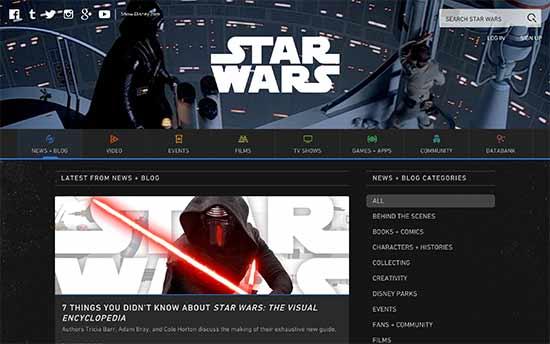 سایت وبلاگ starwars