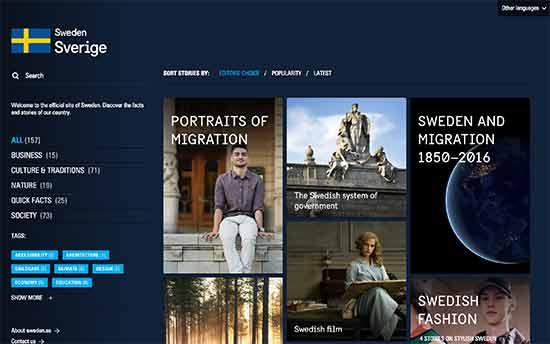 sweden website