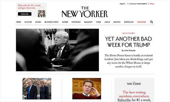 سایت the new yorker