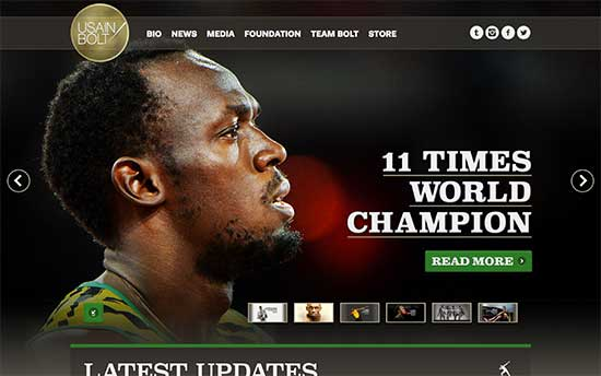 usainbolt website