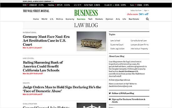 wall steer journal law blog